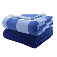 "Mainstays 2-Pack Fleece Plush Throw Blanket, 50"" x 60"""