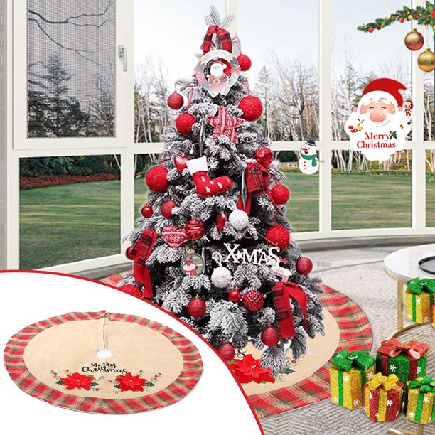 Xisheep Christmas Tree Skirt Faux Fur Christmas Tree Skirt Decorations Decoration For Merry Christmas Party Christmas Ornaments Tree Mat Decor Walmart Com Walmart Com
