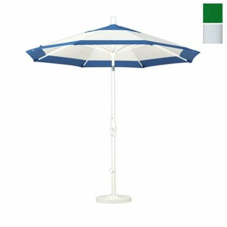 California Umbrella GSCU908170-SA46 9 ft. Aluminum Market Umbrella Collar Tilt - Matted WhitePacifica--Hunter Green - image 1 of 1