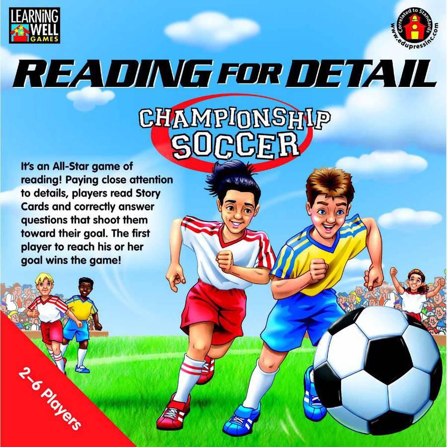 Edupress Learning Well Reading For Detail, Championship Soccer Game, Multiple Reading Levels