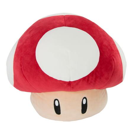 "Nintendo Mario Kart Club Mocchi Mocchi Plush, 12"" Super Mushroom Plush Stuffed Toy"