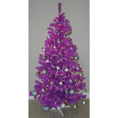 homegear 6ft artificial purple christmas tree xmas decoration. Black Bedroom Furniture Sets. Home Design Ideas