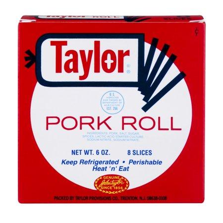 Burris Taylor Pork Roll Thin Sliced 6 Oz Walmart Com