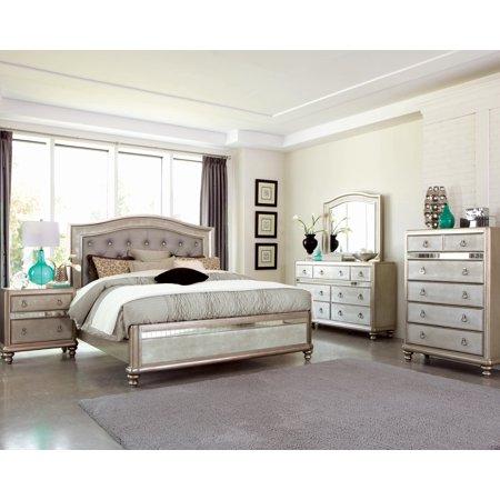 Coaster Bling Game 5-Piece Queen Bedroom Set in Metallic 204181Q-S5