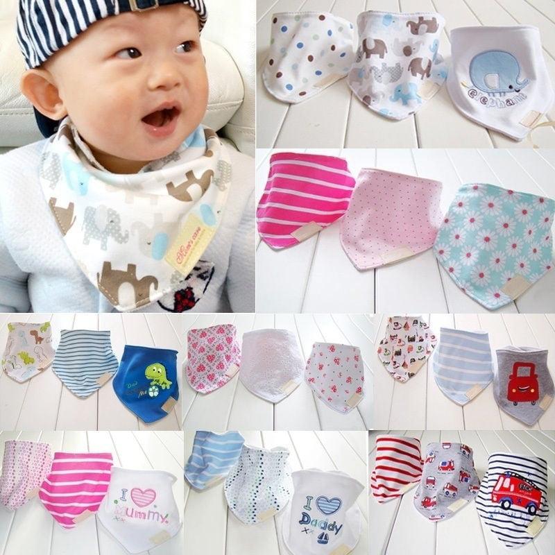 Bandana Head Scarf Baby Boy Double Feeding Towel Nursing Cloth Bib Girl Saliva
