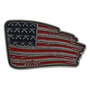 Montana Silversmiths Belt Buckle Womens Girls Gun Flag Silver A505GWG