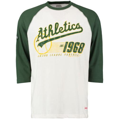 Oakland Athletics Stitches 3/4-Sleeve Raglan T-Shirt - Cream