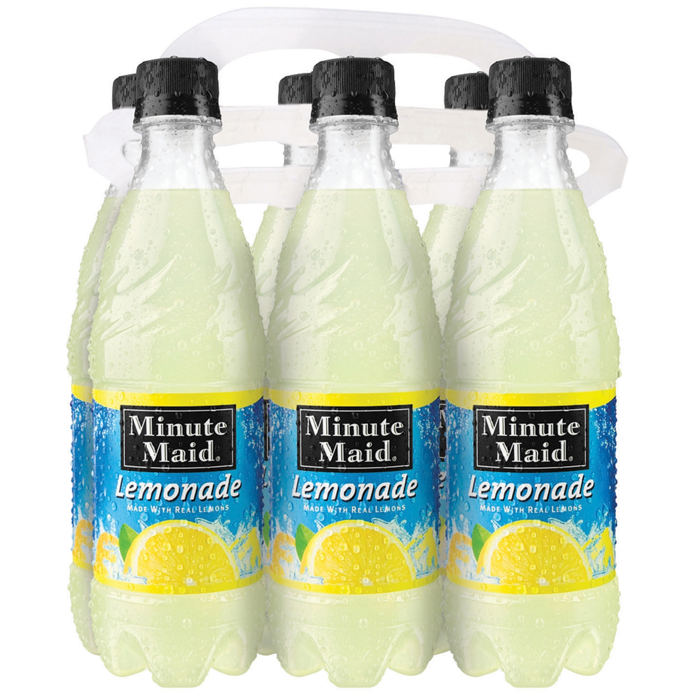 Minute Maid Lemonade 6-16.9 fl oz Plastic Bottles - Walmart.com
