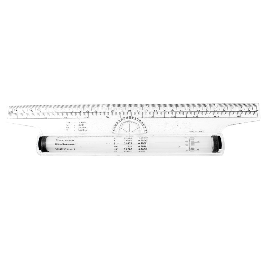 Clear White Metric Parallel Multi-purpose Drawing Rolling Ruler