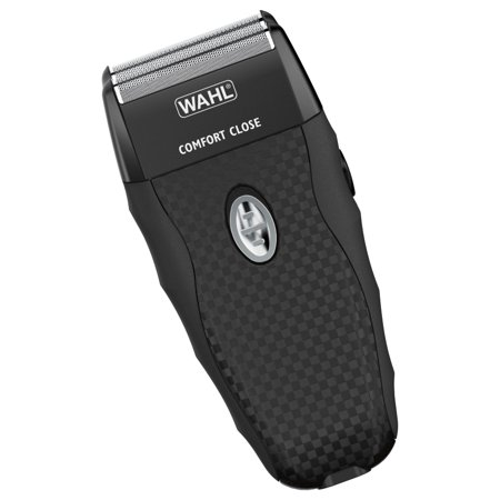 Wahl Flex Shave Rechargeable Foil Shaver features ergonomic shape,soft touch grips, pop-up trimmer for trimming sideburns, beard or mustache. Model
