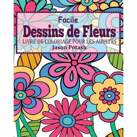 Facile Dessins de Fleurs Livre de Coloriage Pour Les - Coloriage Halloween Pour Adulte