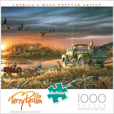 Buffalo Games - Terry Redlin - Patiently Waiting - 1000 Piece Jigsaw Puzzle,