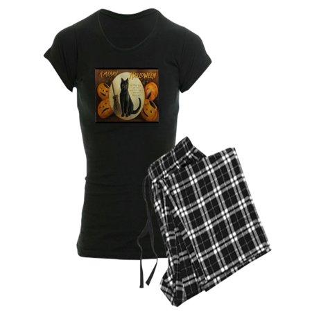 CafePress - Vintage Merry Halloween - Women's Dark Pajamas