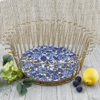 The Pioneer Woman Round Floral Wire Basket