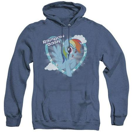 Trevco Sportswear HBRO185-AHH-5 My Little Pony TV & Rainbow Dash-Adult Heather Hoodie, Royal Blue - 2X - image 1 de 1