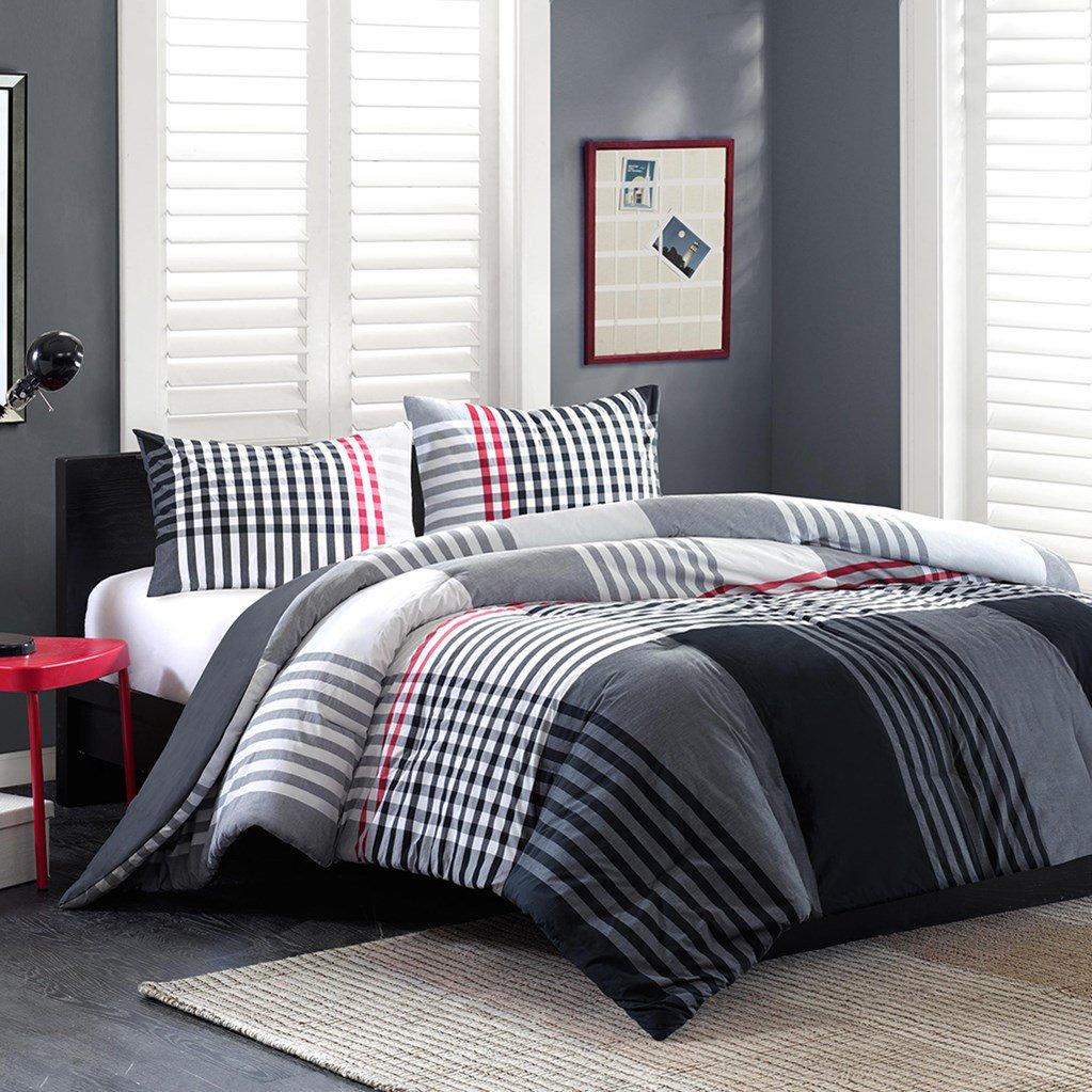 INK+IVY Blake Comforter Mini Set In Black - (Full/Queen)