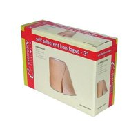 """EverReady First Aid Self Adherent Cohesive Bandages 3"""" x 5 yds Tan- 24 Count"""