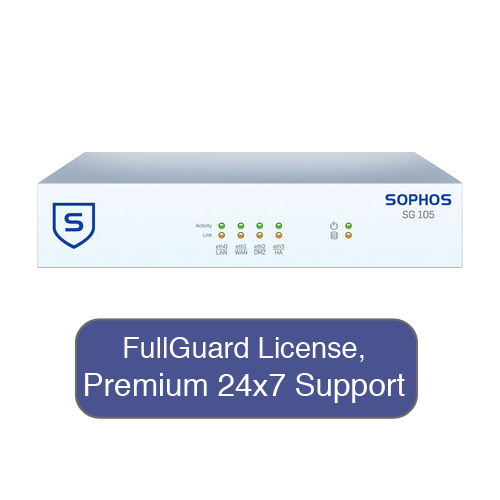 Sophos UTM SG 105 UTM Firewall TotalProtect Bundle with 4...