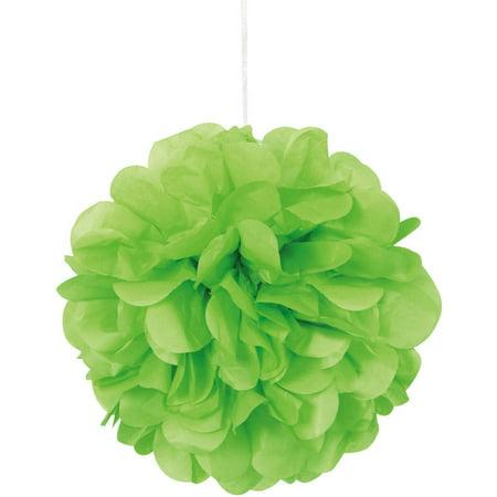 Tissue Paper Pom Poms, 9 in, Lime Green, - Paper Pom Pom