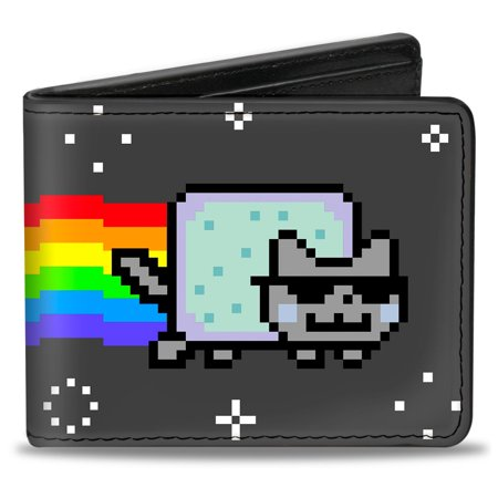 Nyan Cat Youtube Video Meme Green Pop Tart Cool Cat Bi Fold Wallet