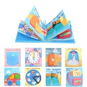 AUTCARIBLE Toddler Busy Board, Montessori Toy Baby Cloth Book Baby Soft Activity Books Educational Toy for Baby Toddler Infant Travel Toys