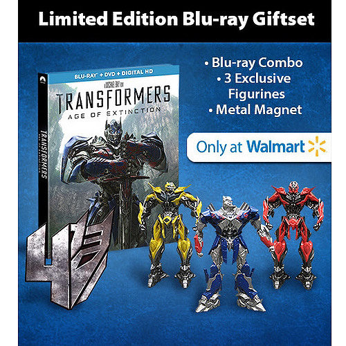 Transformers: Age Of Extinction (Blu-ray   DVD   Digital HD   3 Figurines   Magnet) (Walmart Exclusive) (With INSTAWATCH) (Widescreen)