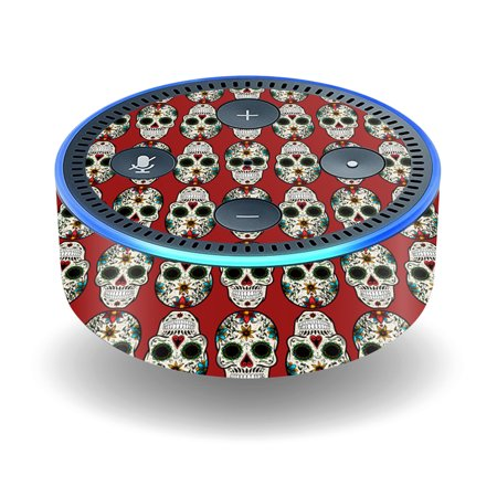 Skin Decal Wrap For Amazon Echo Dot  2Nd Generation  Stickers Sugar Skull