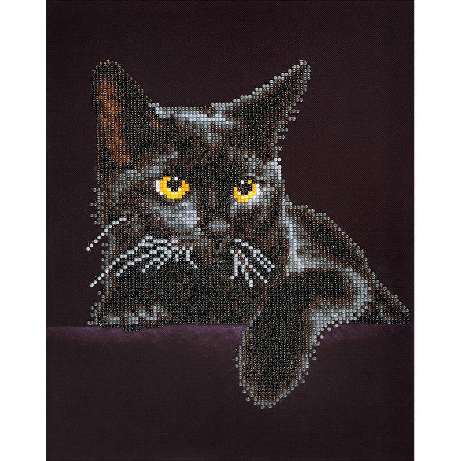 "Diamond Dotz Diamond Embroidery Facet Art Kit, 13.75"" x 17"", Midnight Cat"