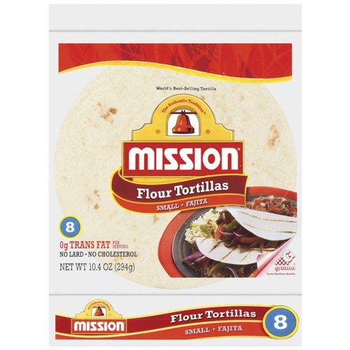"Mission Flour 6"" Small Fajita Size Tortillas, 8 ct"