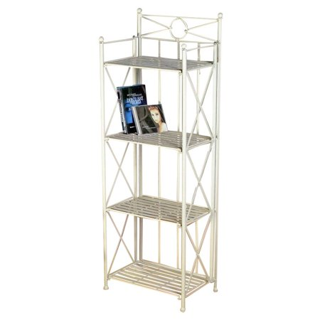 "Pemberly Row 16"" 4 Tier Iron Bakers Rack in White"