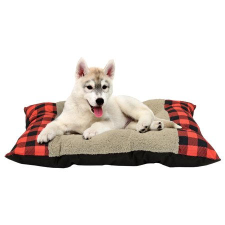 Plaid Tufted Plush Pet Bed, 27