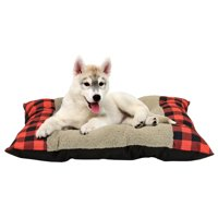 Product Image Holiday Time 27 X 36 Tufted Plush Pet Bed Red