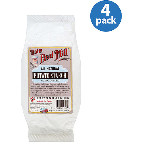 Bob's Red Mill All-Natural Unmodified Potato Starch, 24 oz (Pack of 4)