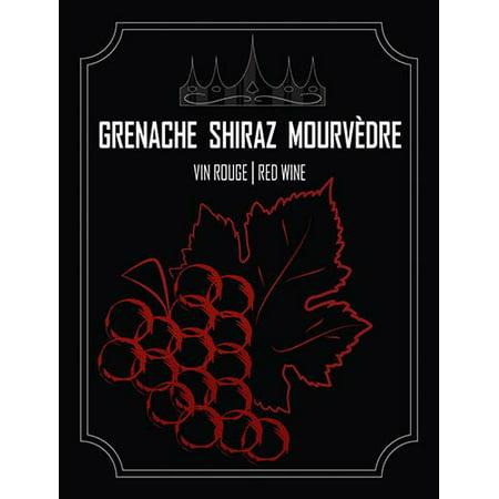Grenache Shiraz Mourvedre Wine Bottle Labels Shiraz Green Label