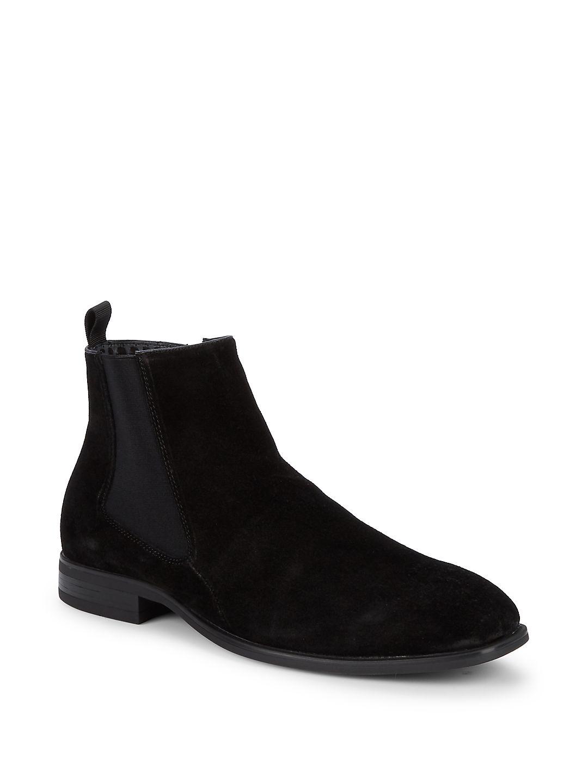 Side-Zip Suede Chelsea Boots