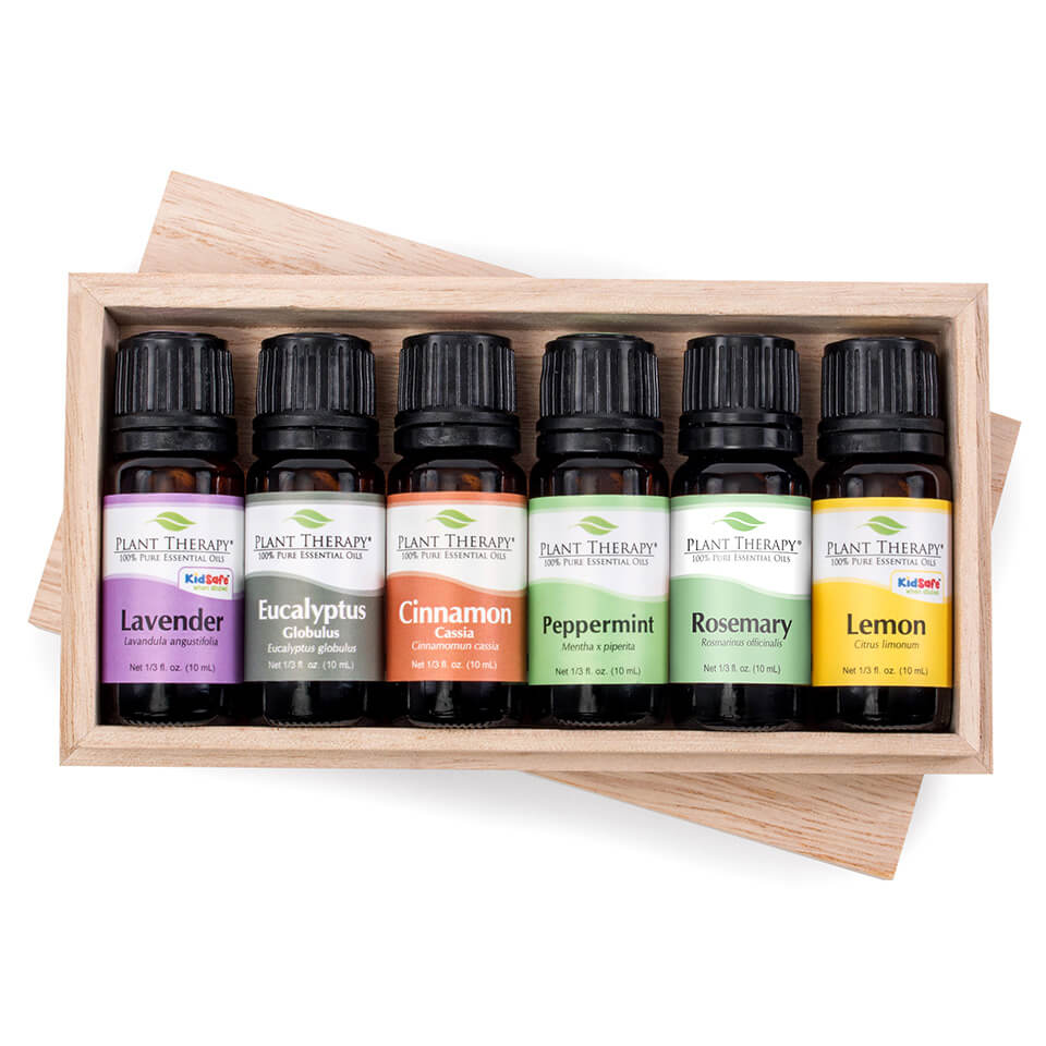 Plant Therapy Essential Oil Sampler Gift Set #4 10 mL (1/3 fl. oz.) each, 100% Pure, Undiluted, Therapeutic Grade