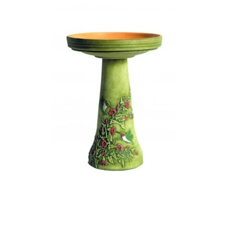 Birds Choice Burley Clay Handpainted Hummingbird Birdbath