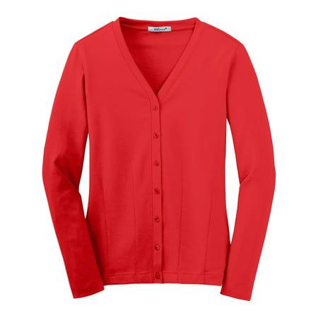 - Mafoose Women's Stretch Cotton Cardigan Scarlet Red XS