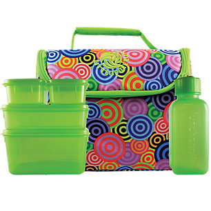 New Wave Enviro 796515500035 Litter Free Lunch - Circles with BPA-free containers