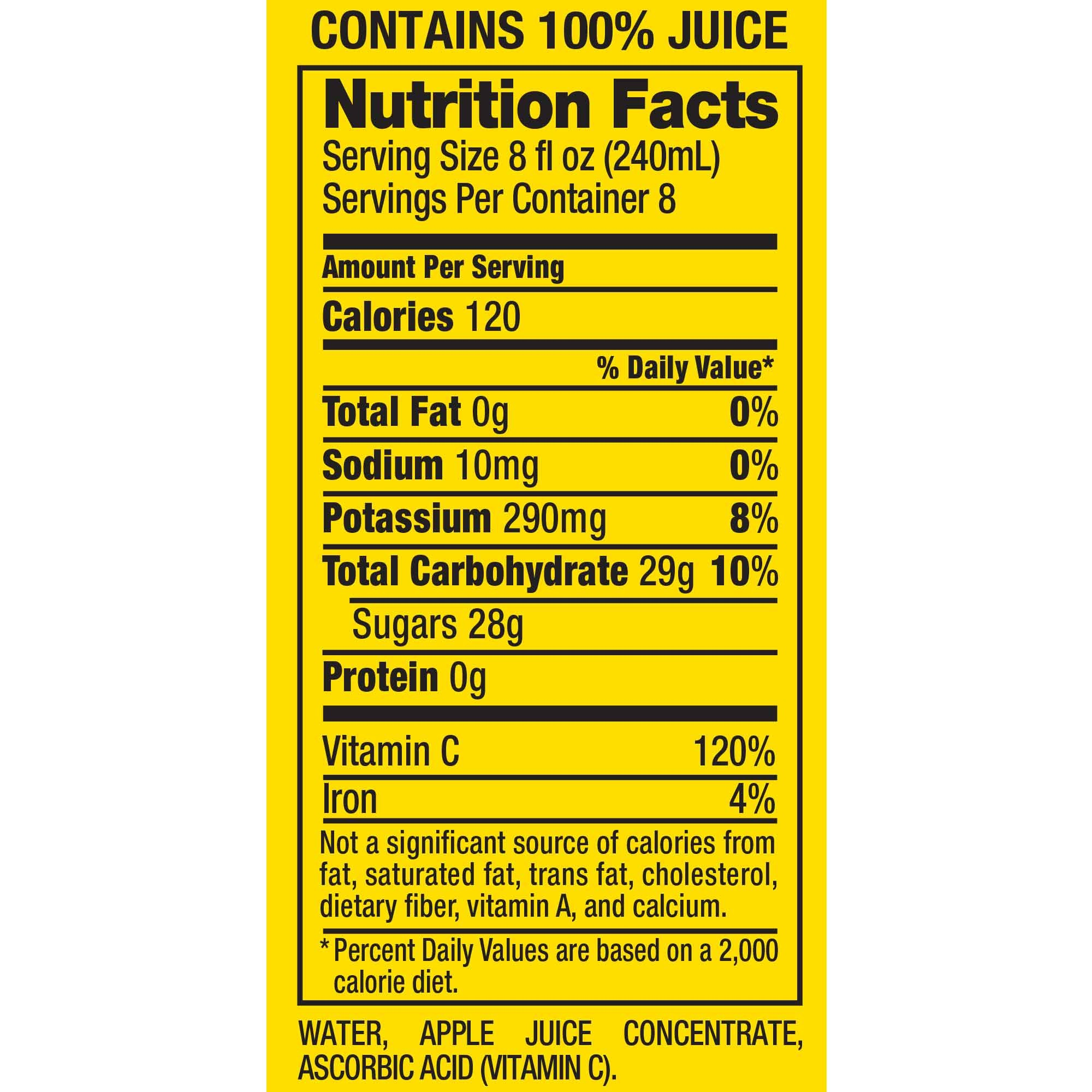 Mott's 100% Original Apple Juice, 64 fl oz - Walmart.com