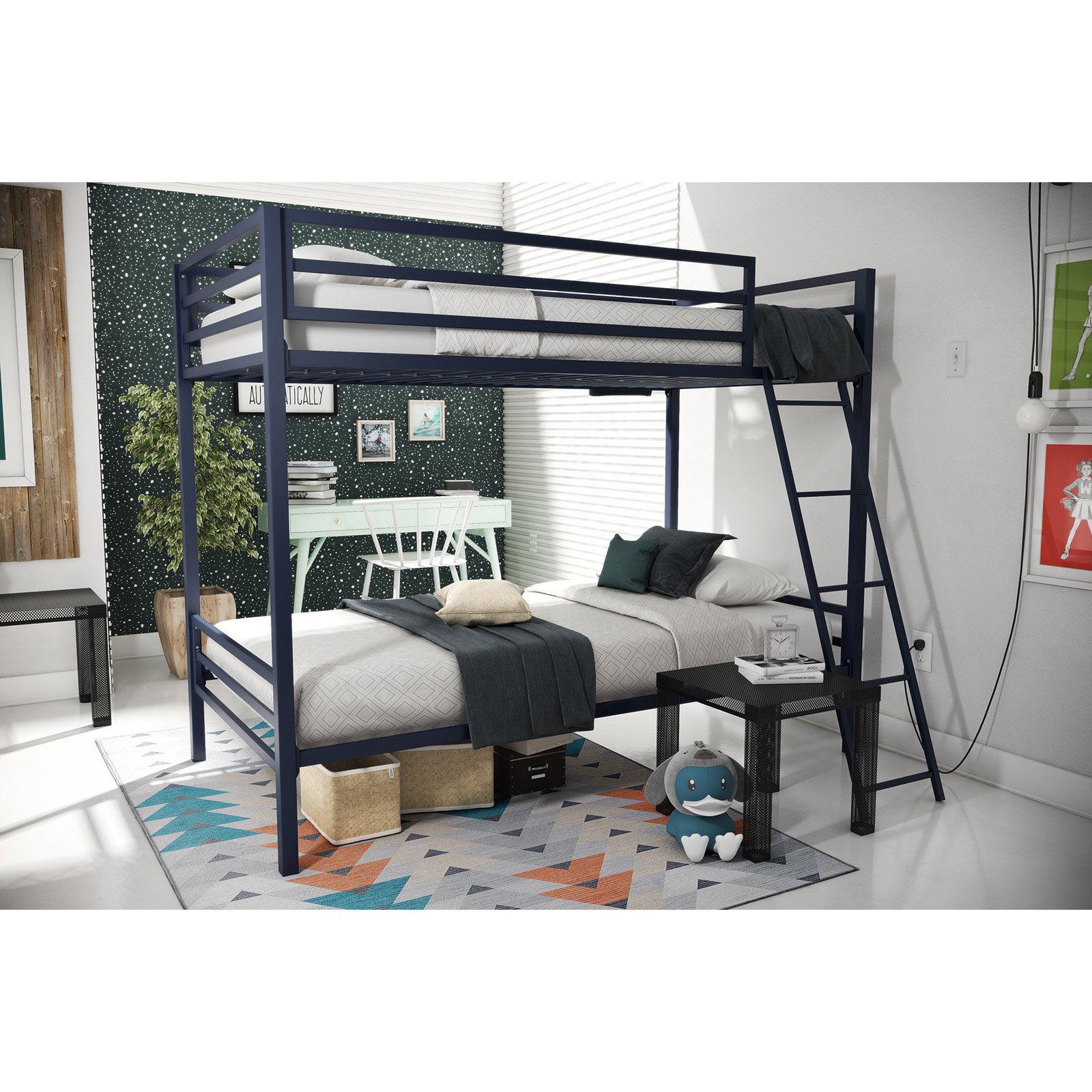 Novogratz Maxwell Twin/Full Metal Bunk Bed, Multiple Colors