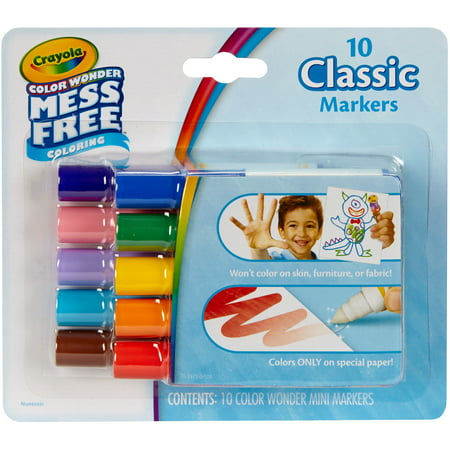 Crayola Color Wonder Mini Markers 10 Count Classic - Crayola Color Wonder Markers