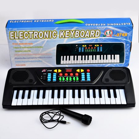 37 Key Electronic Keyboard Piano Musical Toy for Children- Black](Gigantic Keyboard Playmat Reviews)