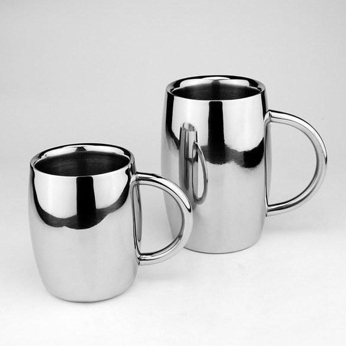 350ML Stainless Steel Beer Mug Double Wall Air Insulated Beer Beverage Mug Coffee Cup by