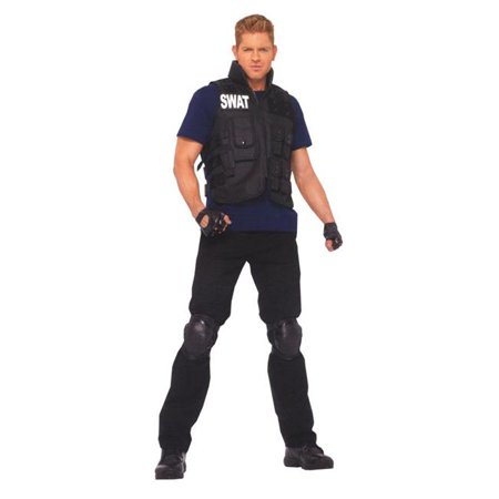 Costumes For All Occasions Ua83682 Swat Mens One Size 50-62 (Swat Costumes For Men)