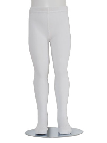 White Piccolo Heavyweight Opaque Baby Girl Tights 0-24M