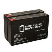 6V 7Ah SLA Battery Replacement for Dual Lite EZ-2RI - 2 Pack