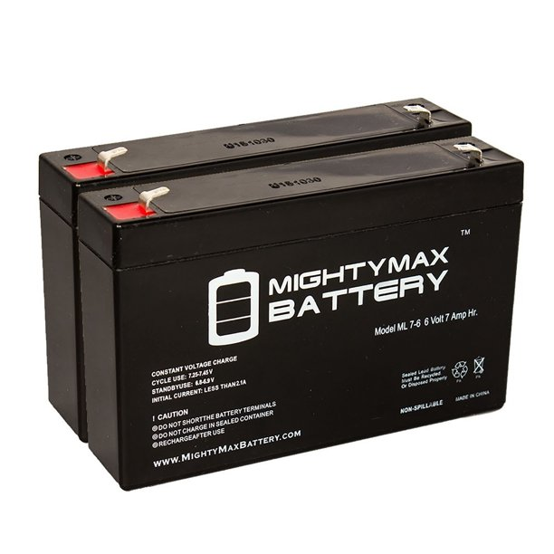 6V 7Ah SLA Battery Replacement for Dual Lite EZ-2RI - 2 Pack