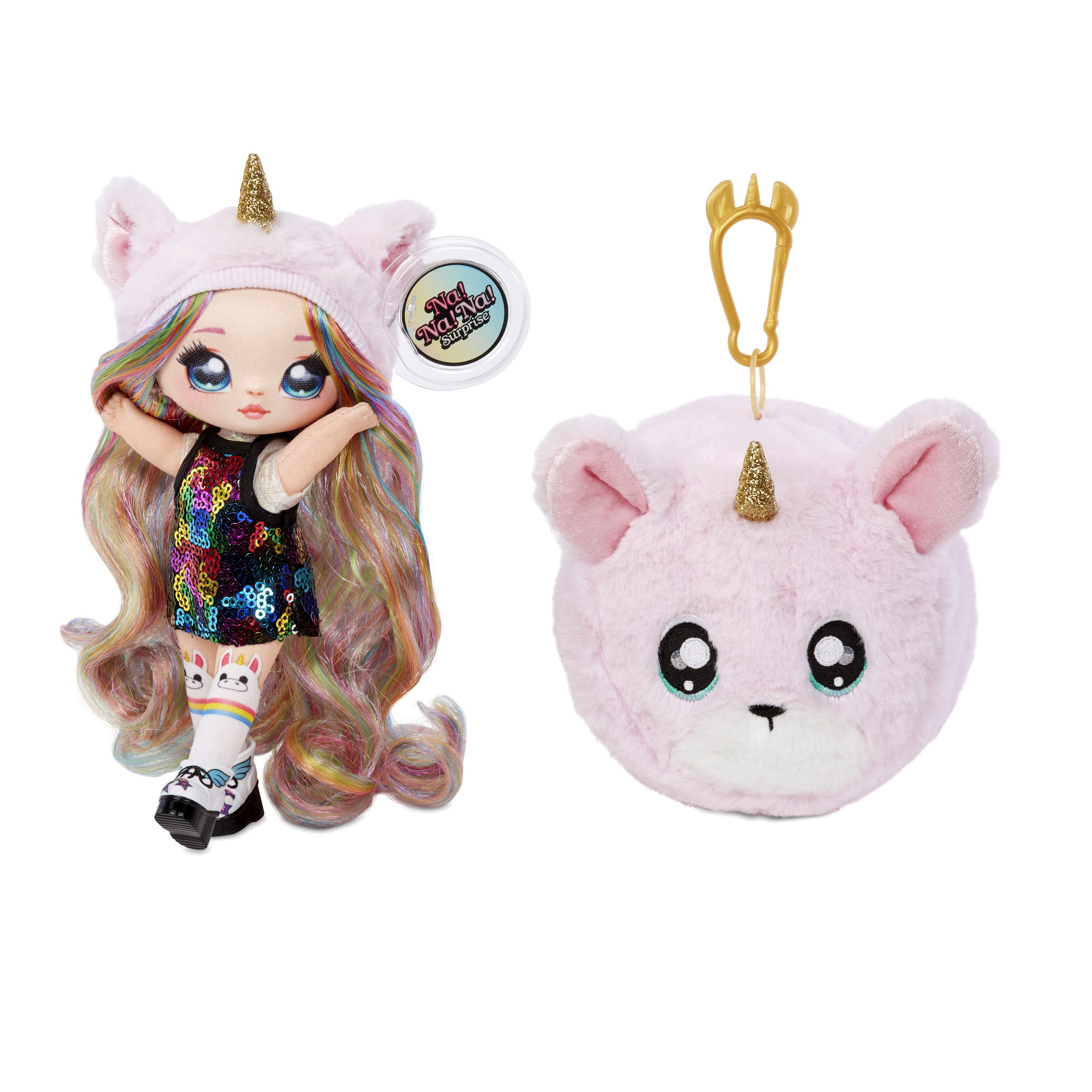 Na! Na! Na! Surprise 2-in-1 Fashion Doll & Pom Purse with Confetti Balloon Unboxing (Styles May Vary)