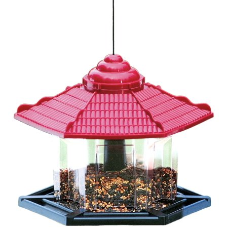 - Gazebo Bird Feeder, Easy to fill and clean Twist top to fill By Cherry Valley Feeder